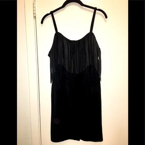 Firenze Santa Barbara 1980s 100% Suede Dress